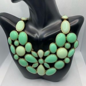 Shades Of Mint Statement Necklace